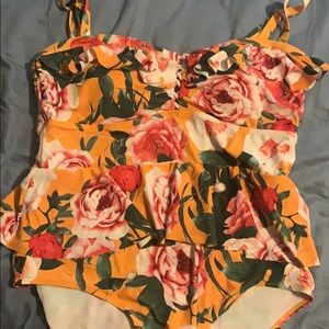 Torrid one piece with removable straps